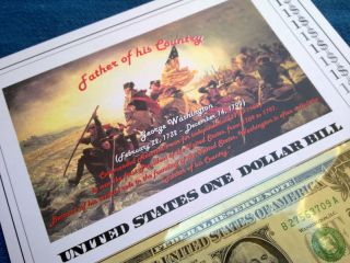 Us Currency 2009 One Dollar Federal Reserve Brochure photo