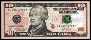 Federal Reserve 10$ 2004a Richmond Unc photo