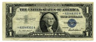 1957 Star Note $1 Silver Certificate One Dollar Cg015 photo
