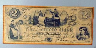 Obsolete Currency The Stanford Bank Two Dollars State Of Maine photo