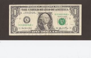 Series 2006 Dallas $1 Federal Reserve Star Note - photo