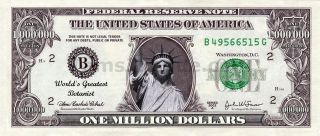 Worlds Greatest Botanist One Million Dollar Bill Message Money Gift photo