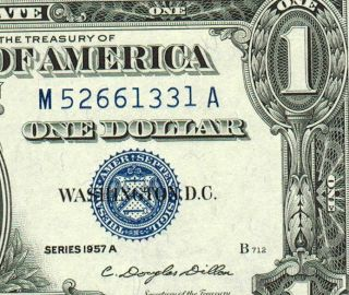 1957a $1 Silver Certificate Gem Uncirculated More Currency 4 (^x photo