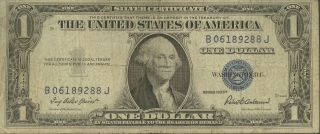 1935 - F $1 Silver Certificate Priest/anderson Historic Blue Seal Well Circulated photo