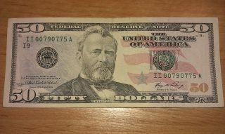 $50 U.  S.  A.  F.  R.  N.  Federal Reserve Note Series 2006 Ii00790775a photo