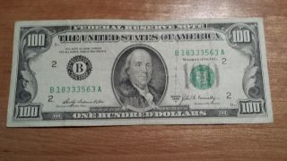 $100 U.  S.  A.  Frn Federal Reserve Note Series 1969a B18333563a photo