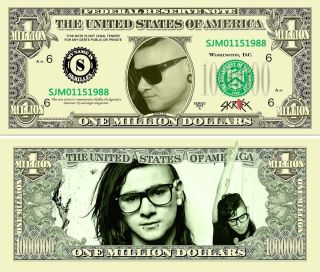 Skrillex One Million Dollar Bills With A Very Realistic Look And Feel photo