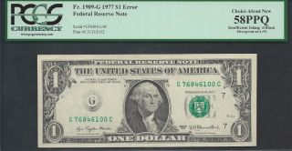 $1=1977=frn=insufficient Inking=pcgs 58 Ppq photo