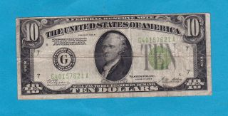 1928 - B Us Gold Certificate $10 Note 86 Years Old. . . photo