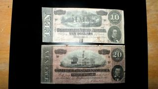 Combo 1864 Csa $20 &10