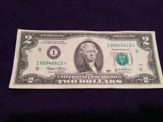 2003 $2 Two Dollar Star Note Low Serial Minneapolis Frn photo
