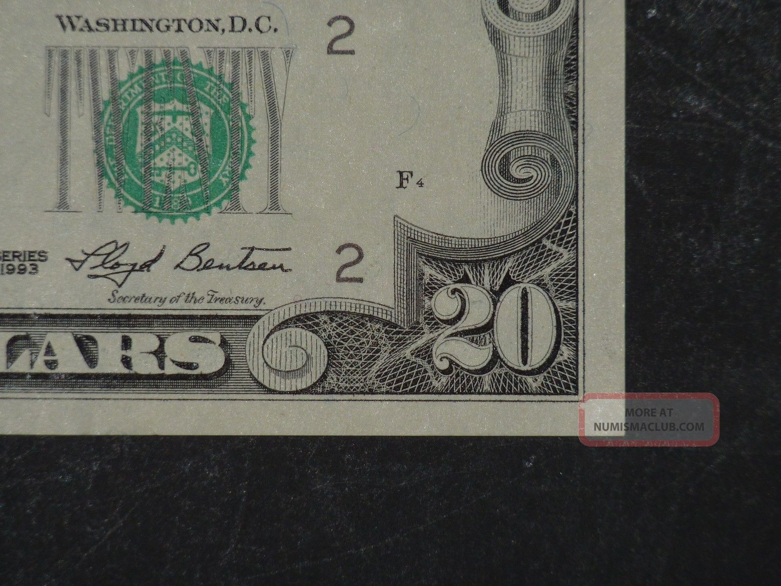 1993 $20 District B2 York Ny Old Style Twenty Dollar Bill S B02655451a