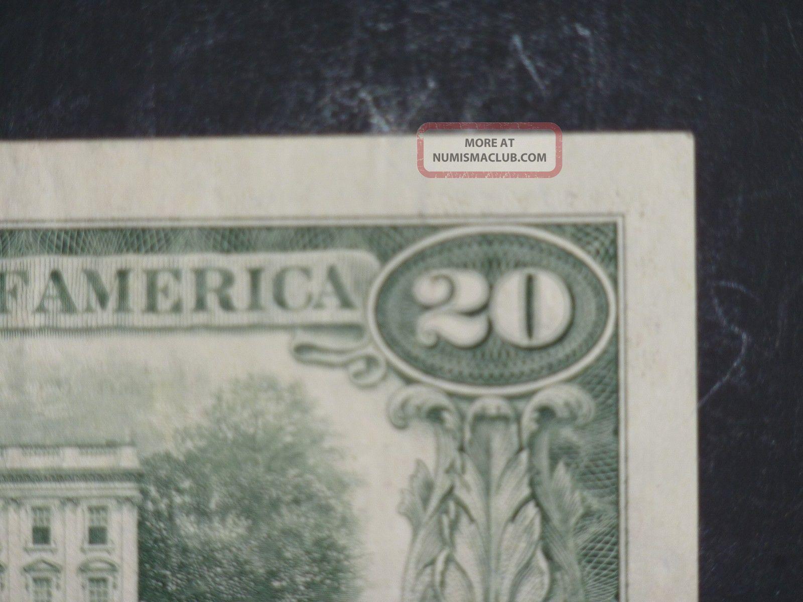 1988a $20 District L 12 San Francisco Old Style Twenty