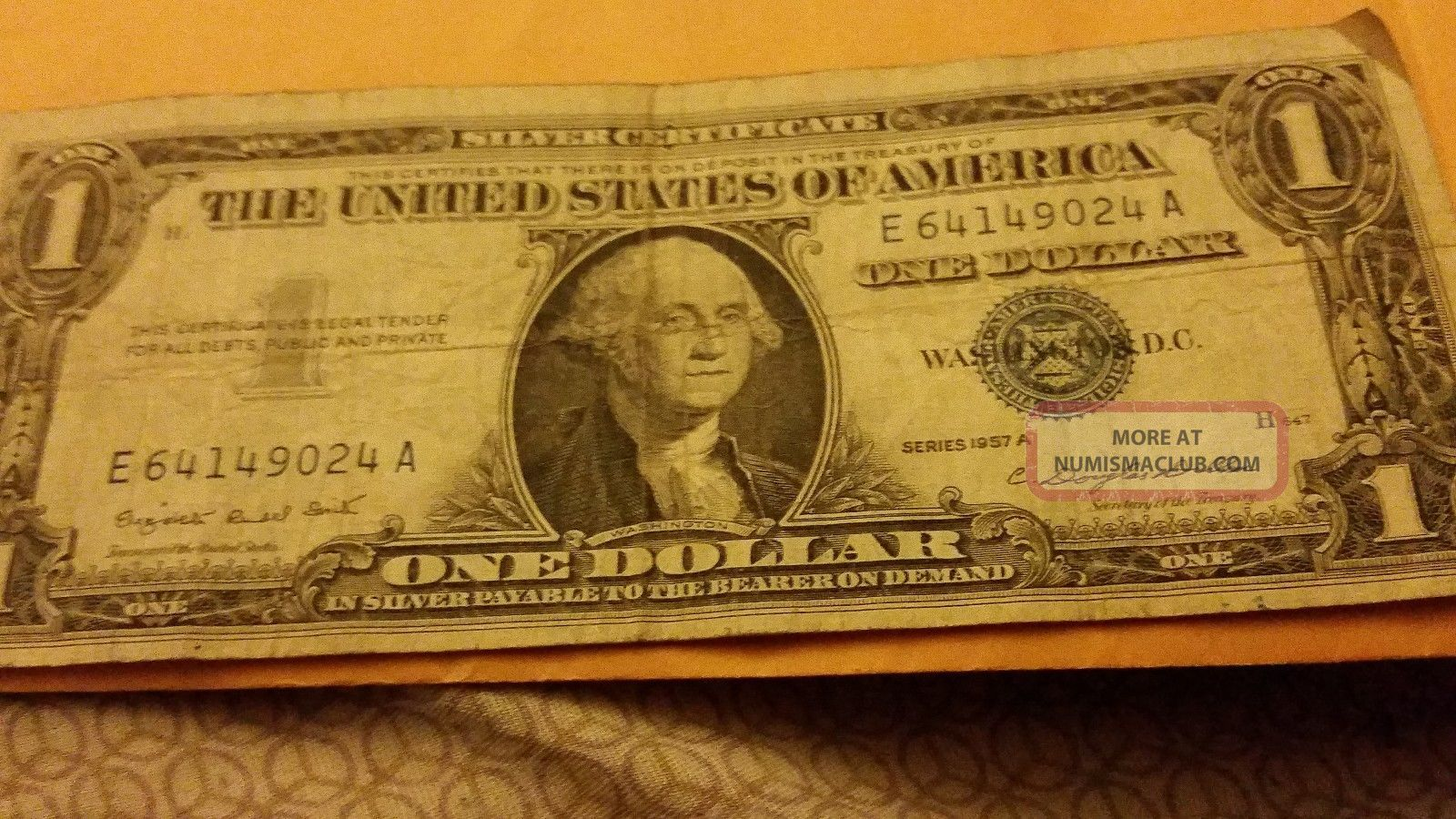 1957 Silver Certificate Dollar Small Size Notes photo