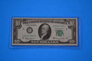 One 1963 A Uncirculated $10.  00 Fowler Note photo