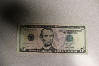 Series 2009 ' $5.  00 Dollar Federal Reserve