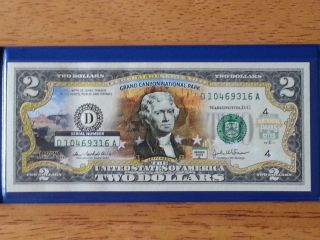 Official 2 Dollar Bill Grand Canyon National Park Theme photo