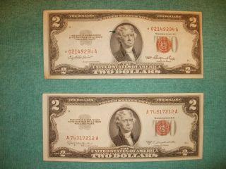 Red Stamped $2 Bills photo