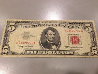 1963 Five Dollar Bill photo
