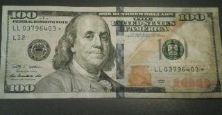 $100.  00 - Doller Starnote - 2009 A Series Cir. photo