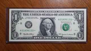 1999 One Dollar Federal Reserve Star Note St Louis Dist Uncirculated photo