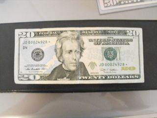 2009 $20 Frn.  Very Low Serial 00024928 Star Note Take A Lqqk photo