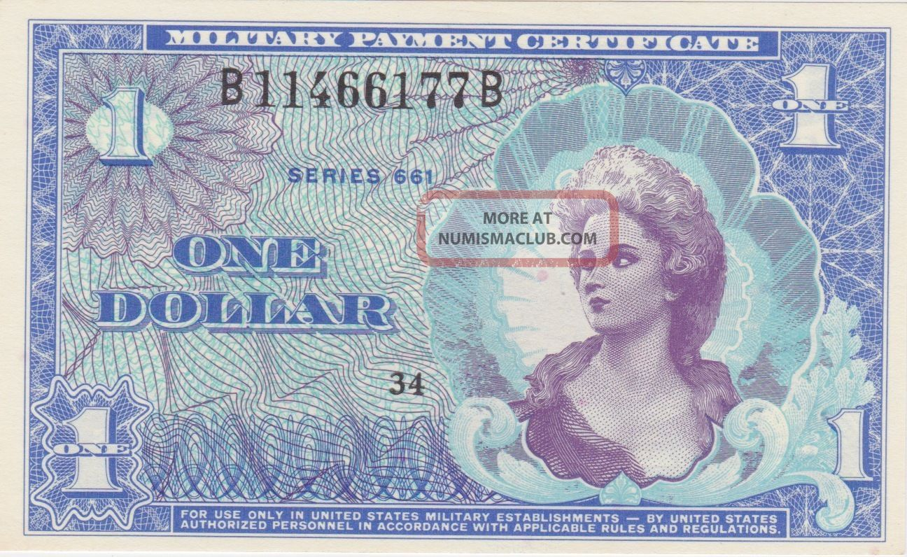 Mpc $1 Uncirculated Crips Note Vietnam 661 Series