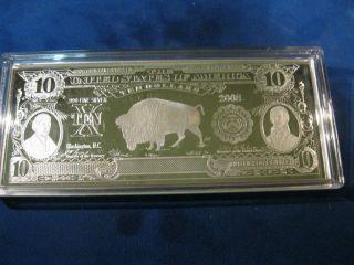 2008 4 Troy Oz.  999 Silver $10.  00 Buffalo photo