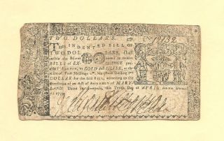 1774 $1/3rd Dollar Maryland Colonial Currency Pmg Very Fine 25 photo