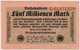 Germany 5.  000.  000 Mark 1923 C02571524 photo