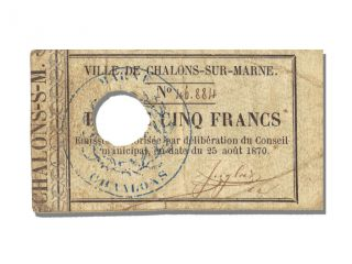 French War Emergency Issues,  5 Francs,  Charlons - Sur - Marne photo