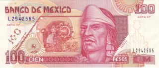 Mexico: 100 Pesos,  P - 108b,  10 - 5 - 1996,  Crisp Au photo