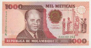 Mozambique 1000 Meticais 16 - 6 - 1991 Pick 135 Unc photo