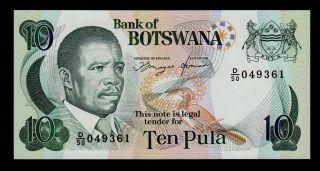 Botswana 10 Pula (1992) Pick 12 Unc. photo