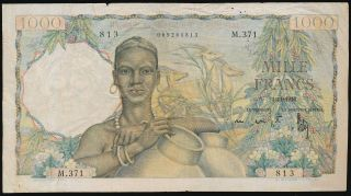 French West Africa 1000 Francs 27.  11.  1948,  P.  42 photo