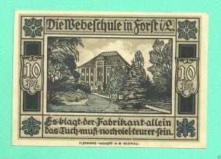 Germany Forst 10 Pfg.  1921 Notgeld Unc Gem Crisp Wqs4 photo