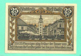 Germany Forst 25 Pfg.  1921 Notgeld Unc Gem Crisp Wqs8 photo