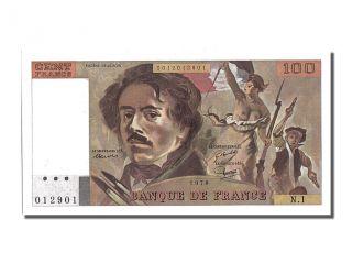 French Paper Money,  100 Francs Type Delacroix photo