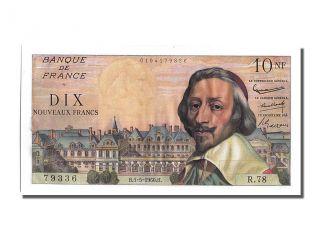 French Paper Money,  10 Nouveaux Francs Type Richelieu,  05 Mai 1960,  Fayette. . . photo