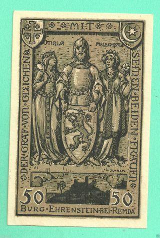 Germany Remda 50 Pfg.  1921 Notgeld Unc Gem Crisp 51155 photo