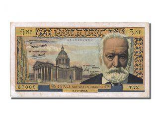 French Paper Money,  5 Nouveaux Francs Type Victor Hugo,  01 Février 1962, . . . photo