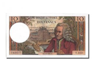French Paper Money,  10 Francs Type Voltaire,  02 Mars 1967,  Fayette 62.  25 photo