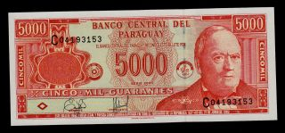 Paraguay 5000 Guaranies 2000 Pick 220a Unc. photo