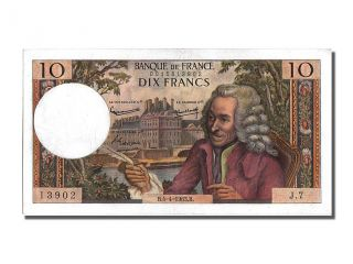 French Paper Money,  10 Francs Type Voltaire,  04 Avril 1963,  Fayette 62.  2 photo