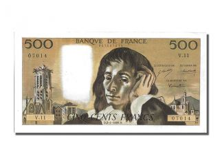 French Paper Money,  500 Francs Type Pascal,  02 Janvier 1969,  Fayette 71.  3 photo
