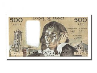 French Paper Money,  500 Francs Type Pascal,  03 Mars 1988,  Fayette 71.  38 photo