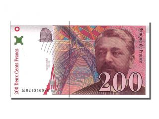 French Paper Money,  200 Francs Type Eiffel Sans Strap photo