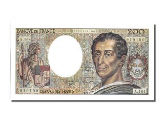 French Paper Money,  200 Francs Type Montesquieu photo