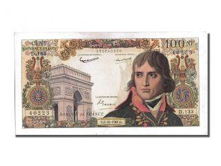 French Paper Money,  100 Nouveaux Francs Type Bonaparte,  05 Octobre 1961, . . . photo
