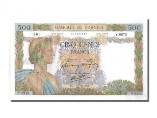 French Paper Money,  500 Francs Type La Paix,  01 Octobre 1942,  Fayette 32.  41 photo